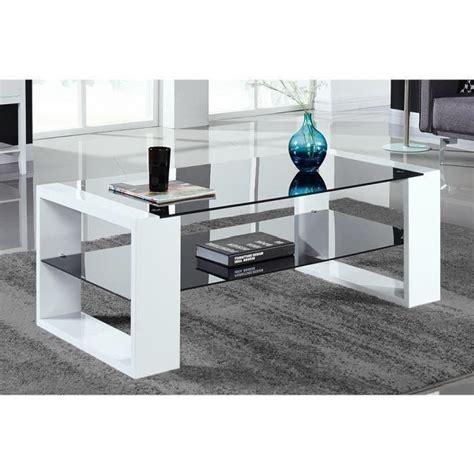 Table Basse Noir Laquã Vera Table Basse 120x60cm Laqu 233 Noir Et Blanc Achat