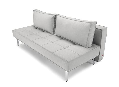 Innovations Sofa Beds Sly Deluxe Sofa Bed Grey Leather Textile By Innovation
