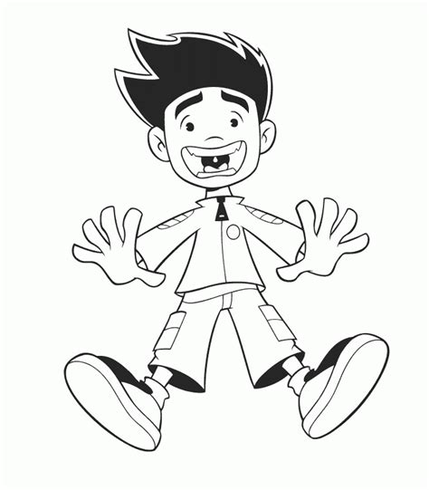 American Dragon Jake Long Coloring Pages American Jake Coloring Pages