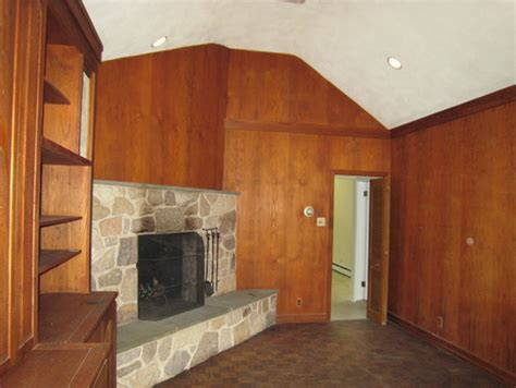 how to update wood paneling how to update worm treated pine paneling in family room