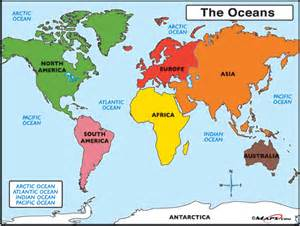 Map Of The World Oceans by Pics Photos Oceans Of The World Map