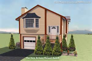 Raised House Plans by The New Britain Raised Ranch House Plan