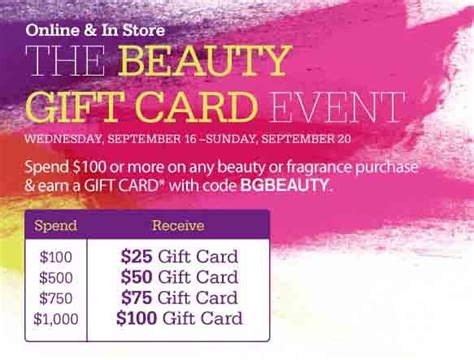 Bergdorf Goodman Gift Card - bergdorf goodman beauty gift card event online and in store