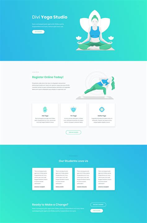 all free download layout design download a free inspiring yoga layout pack for divi