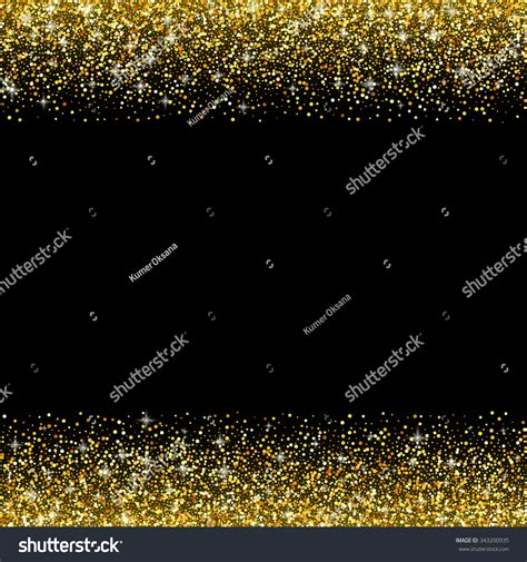 Vector Black Background Gold Glitter Sparkle Stock Vector 343200935 Shutterstock Sparkle Website Templates