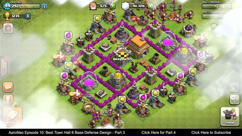 clash of clans layout strategy level 6 best town hall level 6 th6 base defense design layout