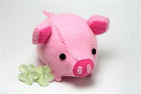pattern for felt pig pdf pattern felt pig plush plush felt and patterns