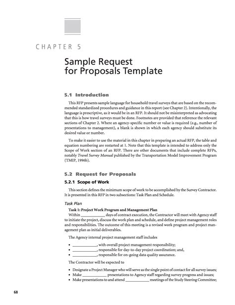 Airport Transfer Request Letter Chapter 5 Sle Request For Proposals Template Standardized Procedures For Personal Travel