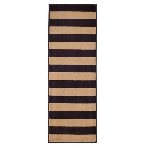 5 runner rug stripe brown 1 ft 8 in x 5 ft rug runner 62 2040a 24 187 the home depot