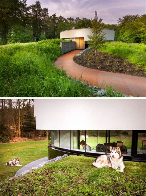 homes built into hillside this circular house is built into the hillside contemporist