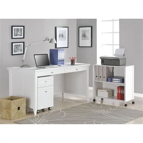 desk with storage altra furniture amelia desk with mobile storage cube and