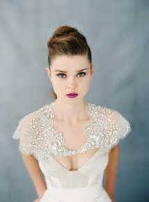 trend alert the 20 most stunning bridal capelets bridal