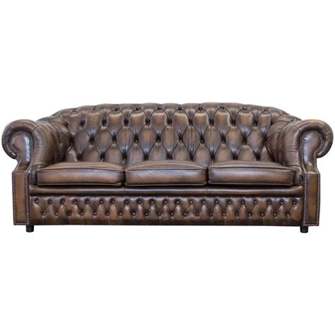 Upholstery In Centurion by Centurion Uk Chesterfield Three Seat Sofa Vintage Brown For Sale At 1stdibs