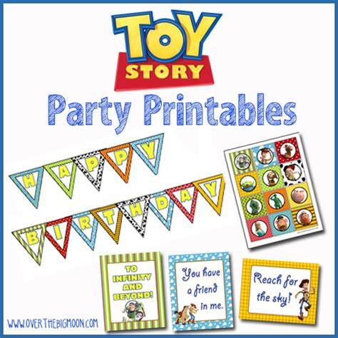 toy story party printables over the big moon