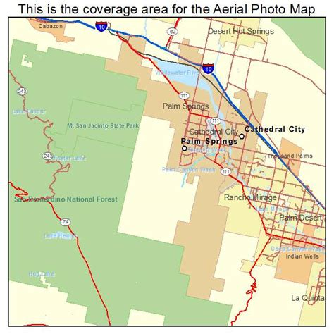 california springs map aerial photography map of palm springs ca california