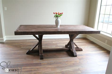 restoration hardware inspired dining table for 110