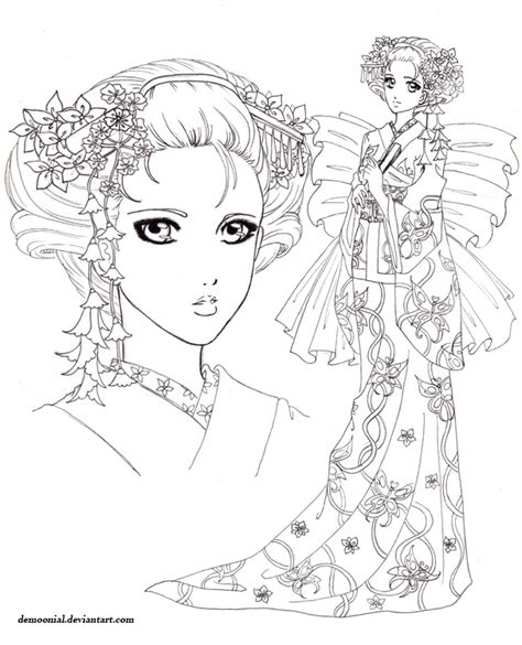 Memorias De Una Geisha By Demoonial On Deviantart Geisha Coloring Pages