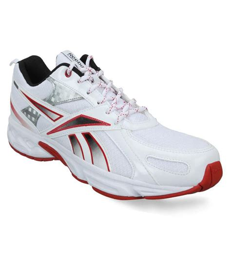 reebok white sport shoes for