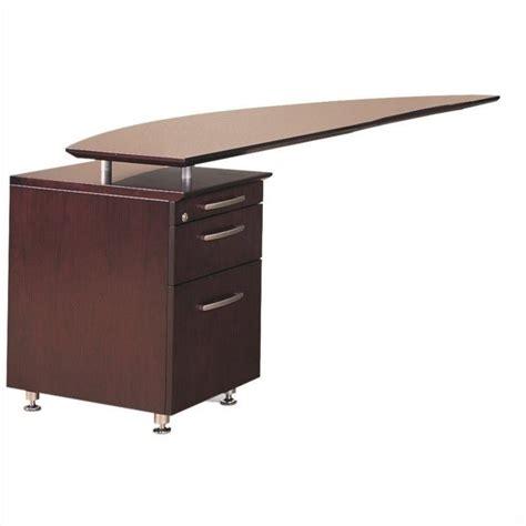 Return Desk by Mayline Napoli Curved Desk Left Return In Mahogany Nrtplmah