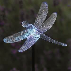 dragonfly lights solar powered dragonfly glowlight colour changing garden