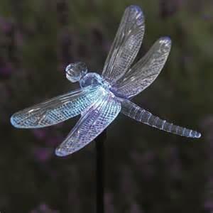 solar dragonfly lights solar powered dragonfly glowlight colour changing garden