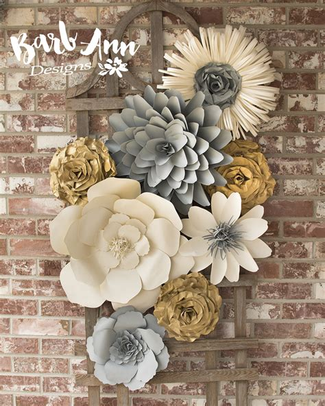 How To Make Paper Wall Flowers - large paper flower wall backdrop barb designs
