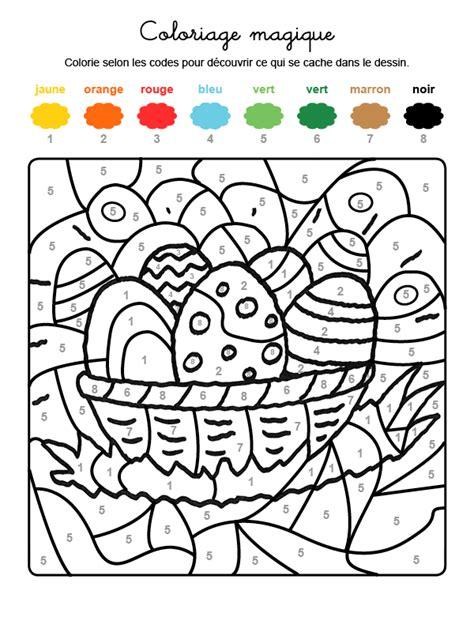 el magico prodigioso letras 8437605067 imprimir coloriage magique en fran 231 ais cesta de huevos de pascua