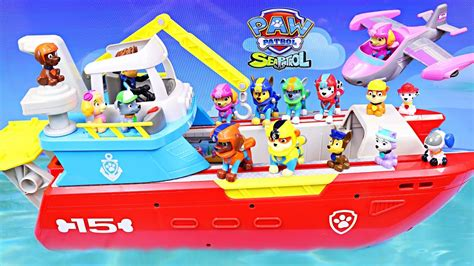 paw patrol boat rescue paw patrol as the sea patrol rescue baby pups in the sea