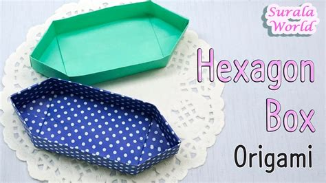origami boat box origami hexagon box boat shaped container youtube