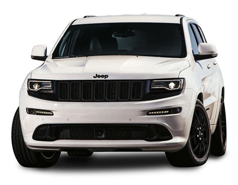 Jeep Grand Srt White Car Png Image Pngpix