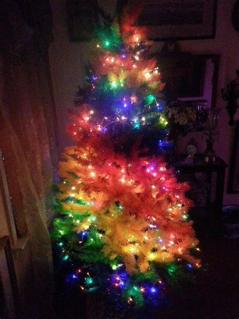 customer photos color burst rainbow christmas tree