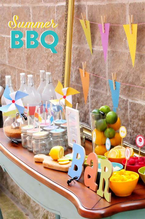summer party decorations colorful summer bbq party pizzazzerie