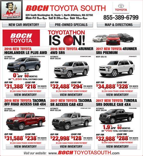 Boch Toyota Attleboro Ma Boch Toyota South Additional Specials Attleboro Ma