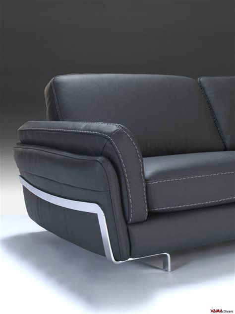 Contemporary Leather Corner Sofas Contemporary Corner Sofa In Black Genuine Leather