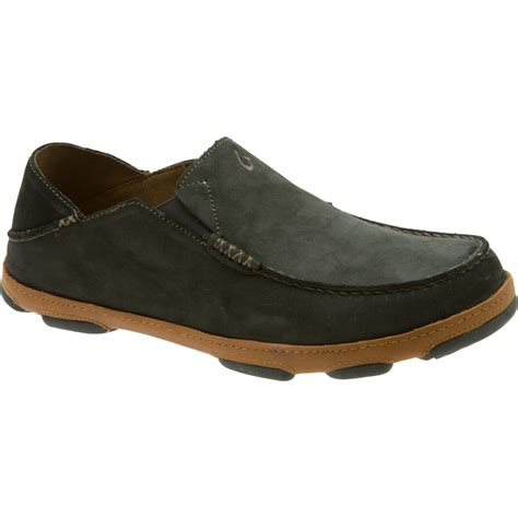 slip on shoes olukai mens moloa leather slip on shoe ebay