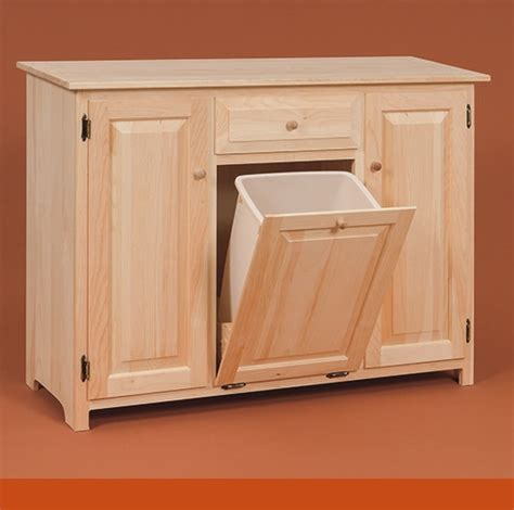 Kitchen Cabinet With Trash Bin kitchen cabinet with integrated trash bin