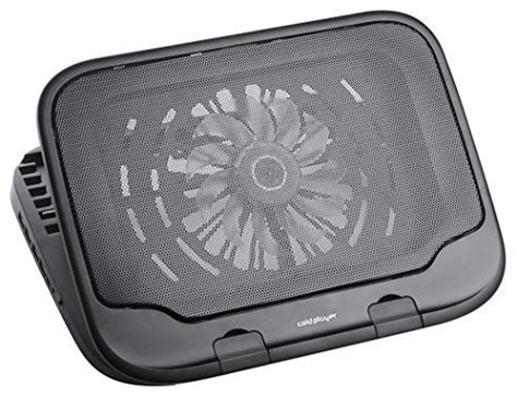 Coolingfan Coldplayer Is9308 coldplayer cp930e bk a 12 15 laptop cooling pad with movable fan usb 2 0 4ports hub and 6