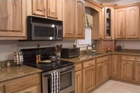 Hickory Kitchen Cabinets by Hickory Kitchen Cabinets With Granite Countertops With