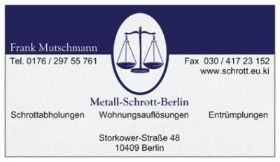 berg entsorgung berlin metall schrott berlin schrottabholung entsorgung