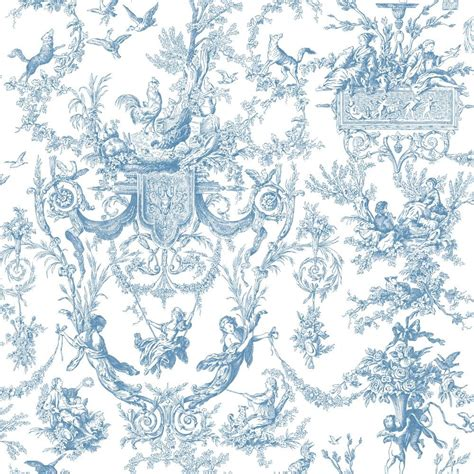 wallpaper toile blue york wallcovering blue book old world toile wallpaper at4241