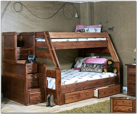 Twin over full bunk bed with stairs and storagehome design ideas
