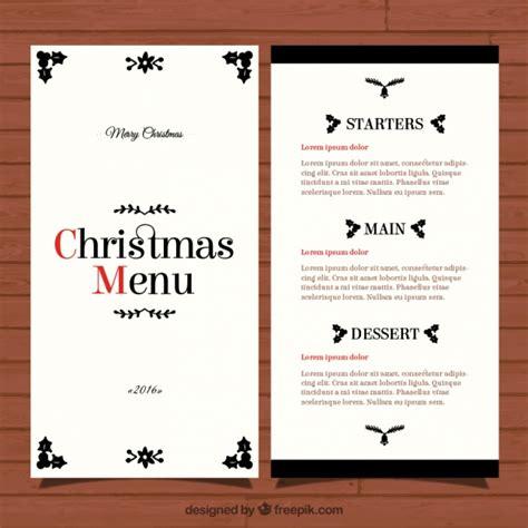 elegant christmas menu template vector free download