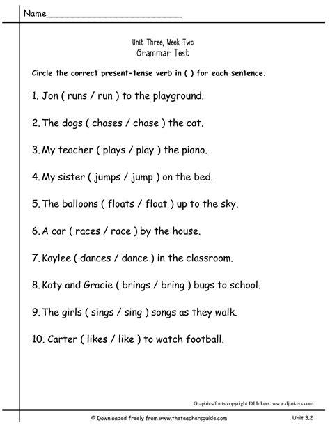 15 best images of present tense practice worksheets verb