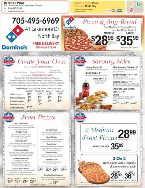 domino pizza menu domino s pizza menu prices 41 lakeshore dr north