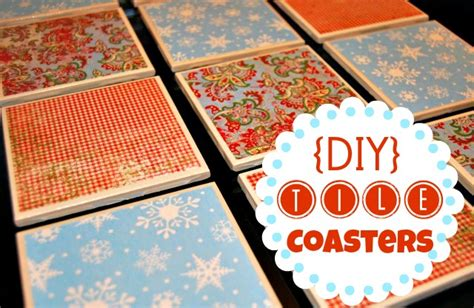 How To Make Coasters Out Of Tiles And Scrapbook Paper - tile coaster tutorial