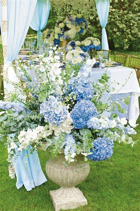 Blue Urn Arrangement   Royal Blue Wedding   Pinterest