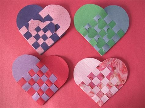 How To Make Woven Paper Hearts - wind fiber studio swedish woven paper hearts with