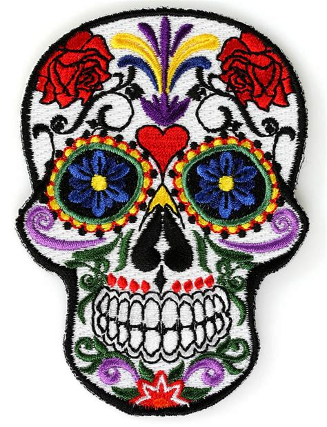 Patch Popcorn Patches Iron On Patch sugar skull iron on patch