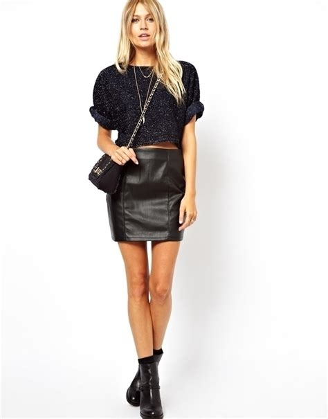 What To Look For When Buying A Leather Sofa Black Leather Mini Skirt Asos Mini Skirt In Leather Look Where To Buy How To Wear