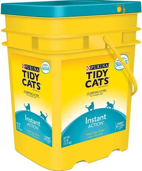 cat litter tidy cats scoop instant immediate odor cat litter 35 lb pail chewy